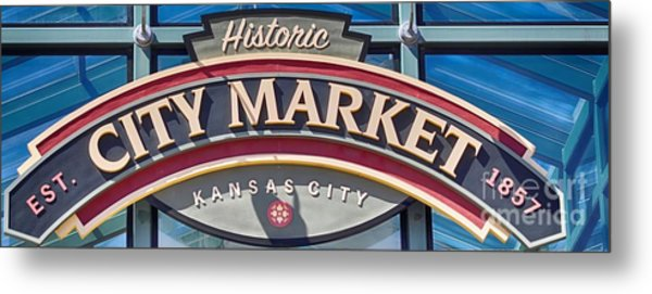 Historic City Market Sign  Metal Print
