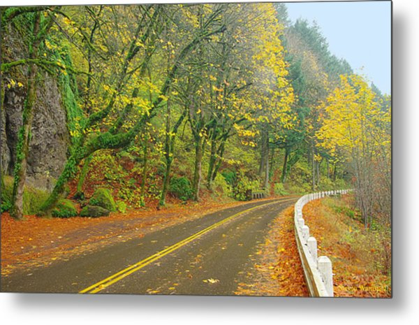 Historic Columbia Gorge Highway Metal Print