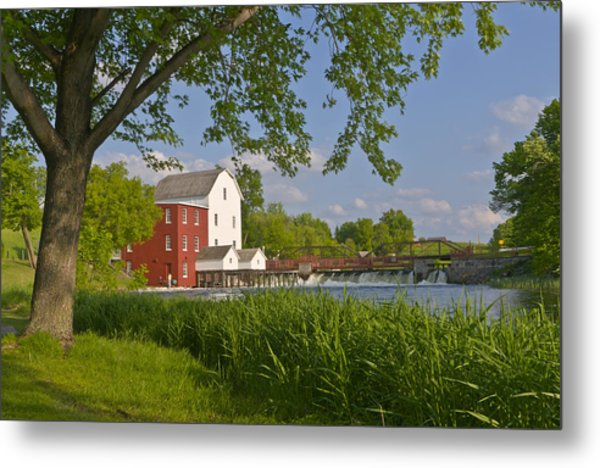 Historic Flour Mill By A River Metal Print