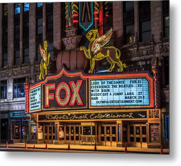Historic Fox Theatre In Detroit Michigan Metal Print