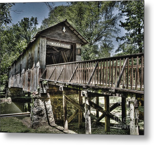 Historic Kymulga Covered Bridge Metal Print