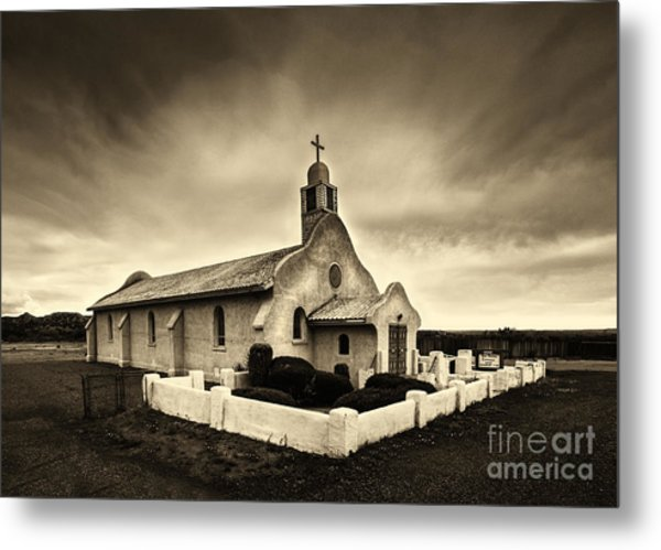 Historic Old Adobe Spanish Style Catholic Church San Ysidro New Mexico Metal Print