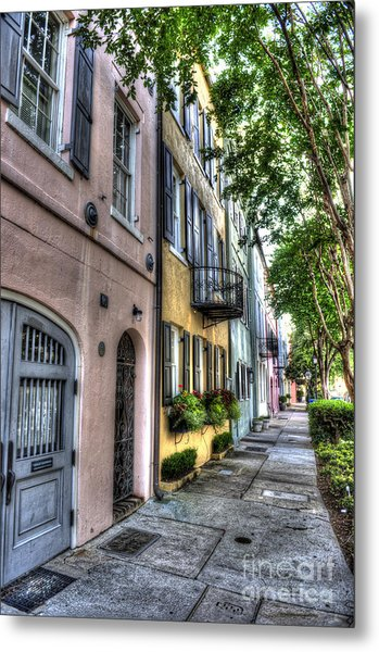 Historic Rainbow Row Metal Print