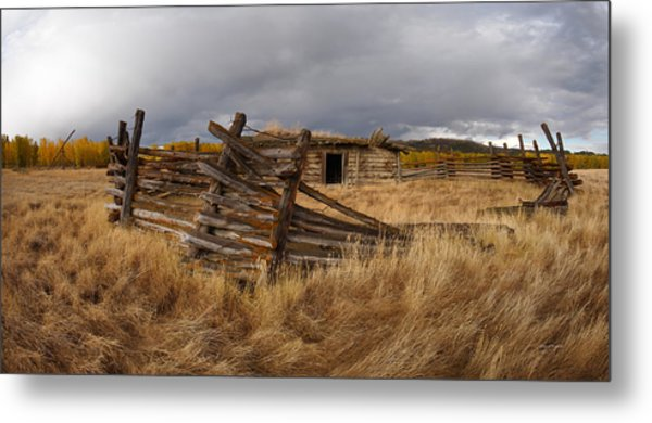 Historical Cabin Montana Metal Print by Leland D Howard