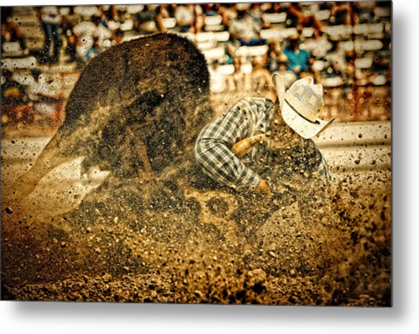 Hittin' The Dirt Metal Print