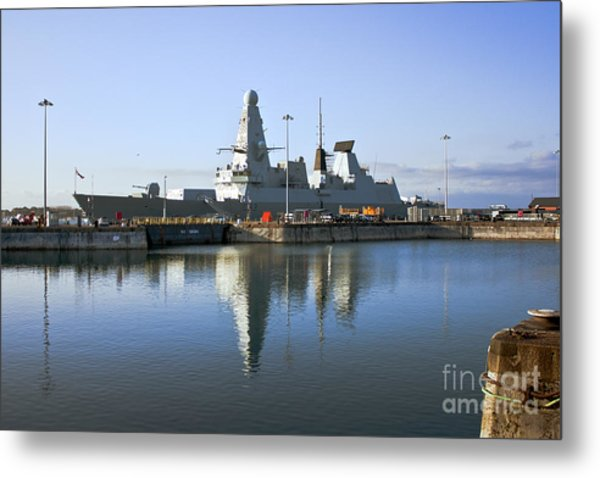 Hms Dauntless Metal Print