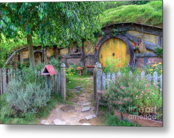 Hobbit Hole 2 Metal Print