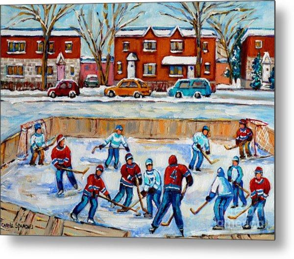 Hockey Rink At Van Horne Montreal Metal Print