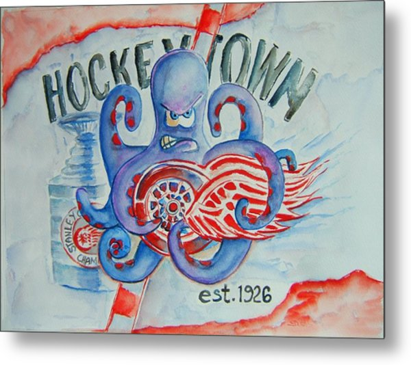 Hockeytown Metal Print