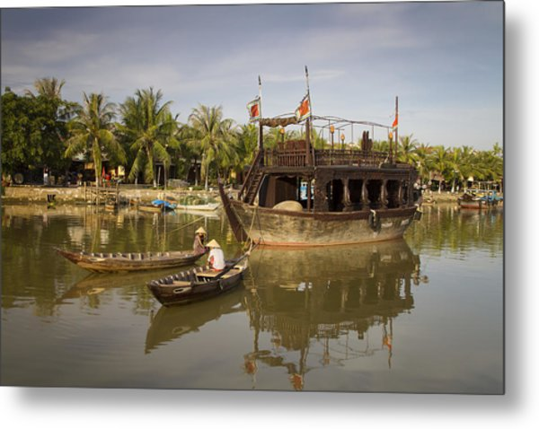 Hoi An River Boats Metal Print