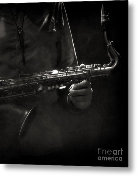 Hold On To Your Sax Metal Print by Michel Verhoef