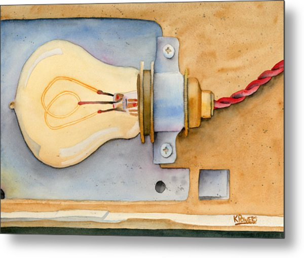 Metal Print featuring the painting Holding On To An Idea Revisited by Ken Powers
