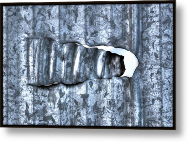 Hole In Wall Metal Print