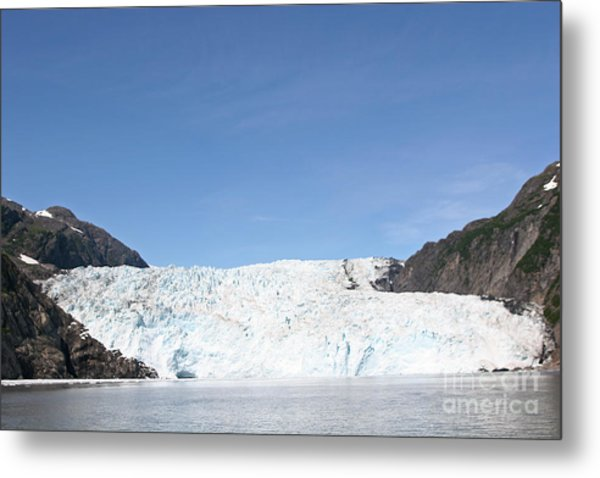 Holgate Glacier Metal Print by Russell Christie
