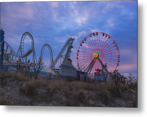 Holiday Ferris Wheel Metal Print