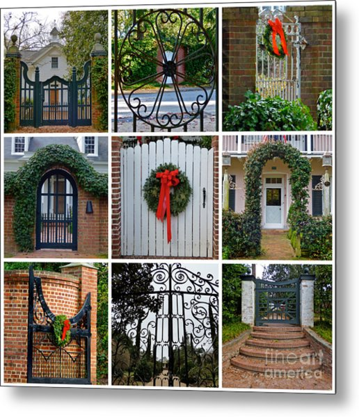 Holiday Gates Of Aiken's Winter Colony Metal Print