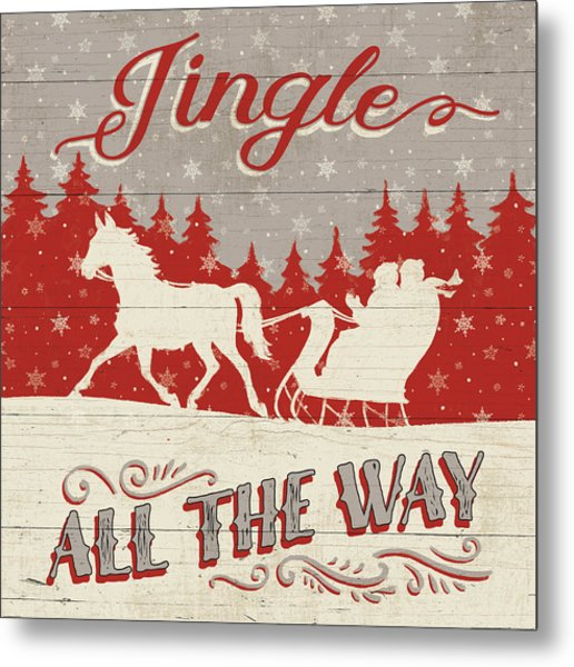 Holiday In The Woods I Metal Print by Janelle Penner
