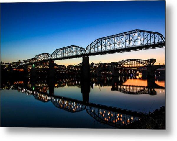 Holiday Lights Chattanooga Metal Print