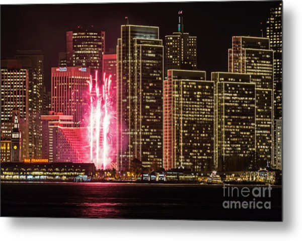 Holiday Lights Metal Print