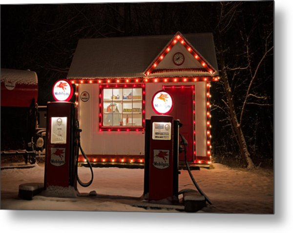 Holiday Service Station Metal Print