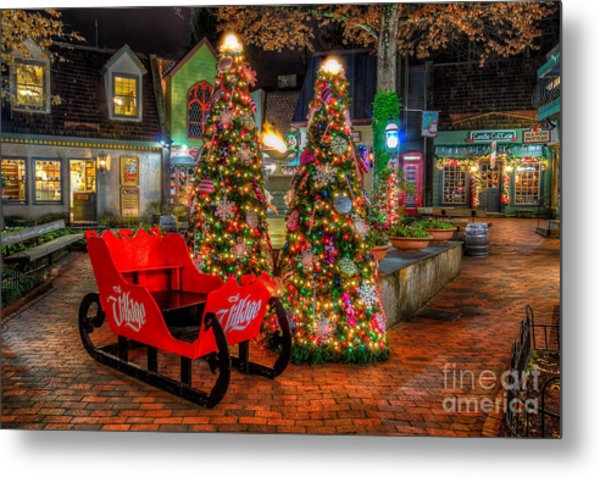 Cristmas In The Smokies Metal Print