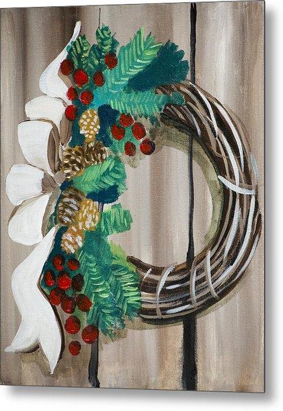 Holiday Wreath 2 Metal Print
