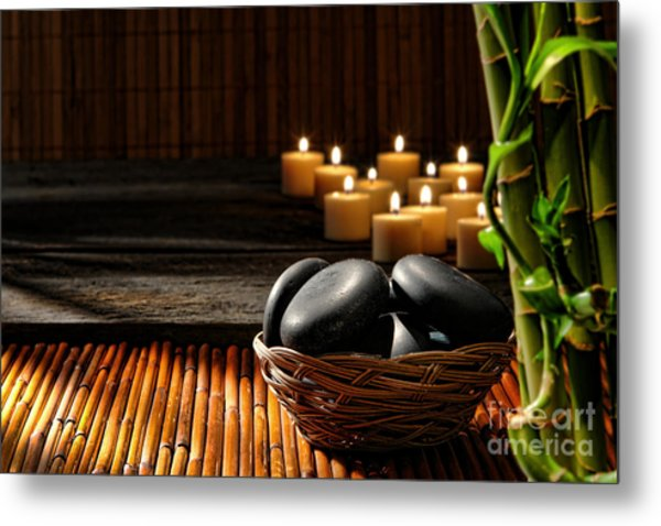 Holistic Massage Metal Print