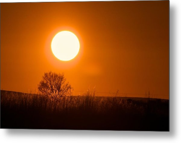 Hollister Idaho Spring Sunset Metal Print