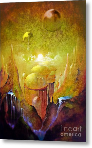 Hollow Earth Agharta Metal Print