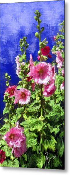 Hollyhock Haven Metal Print