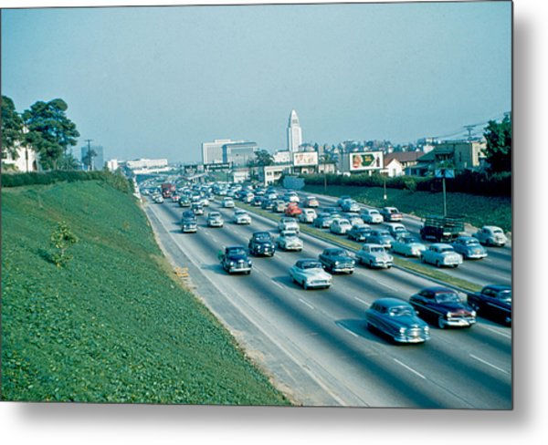 Hollywood Freeway 2 1954 Metal Print by Cumberland Warden
