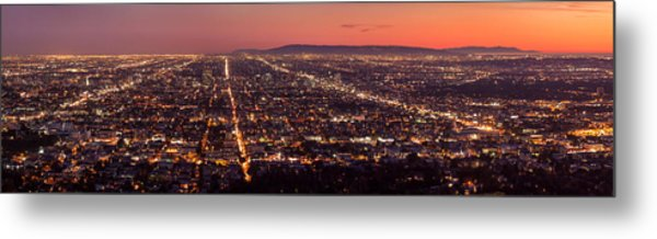 Hollywood Streets Metal Print