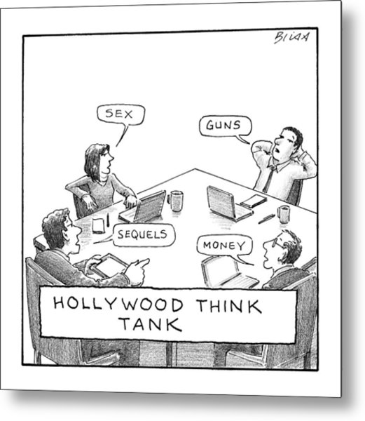 Hollywood Think Tank Metal Print
