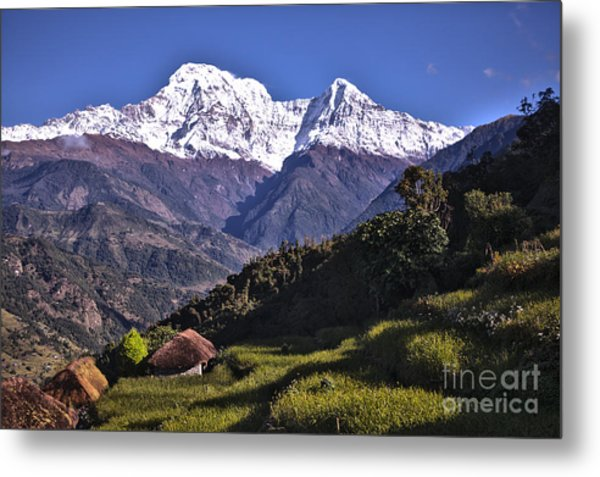 Holy Annapurna South Photo By Artmif Hdr Metal Print