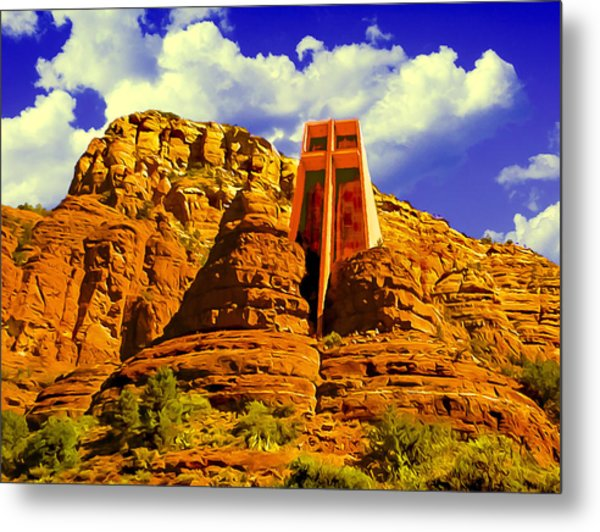 Holy Cross Chapel Coconino National Forest Metal Print