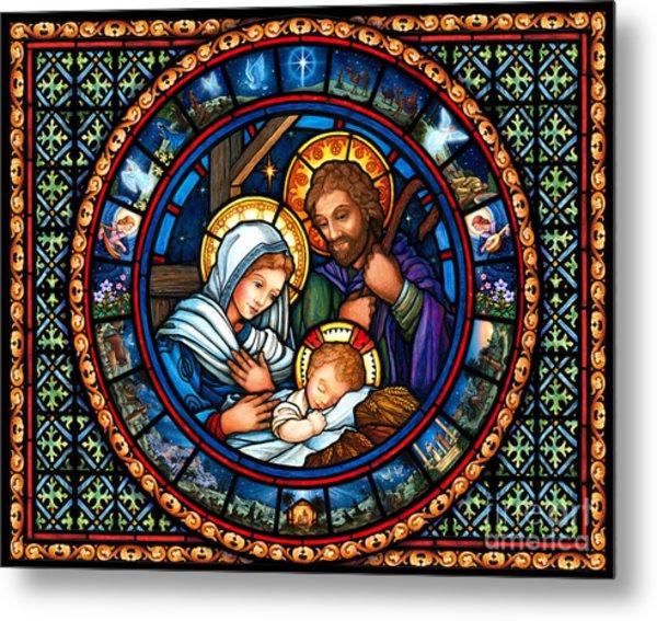 Holy Family Christmas Story Metal Print