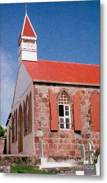 Holy Trinity Church On Saba Metal Print