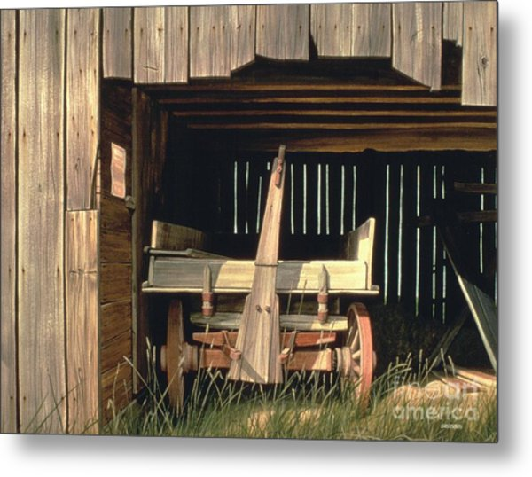 Misner's Wagon Metal Print by Michael Swanson