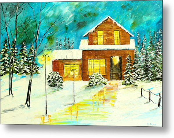 Metal Print featuring the painting Home For Christmas by Kevin  Brown