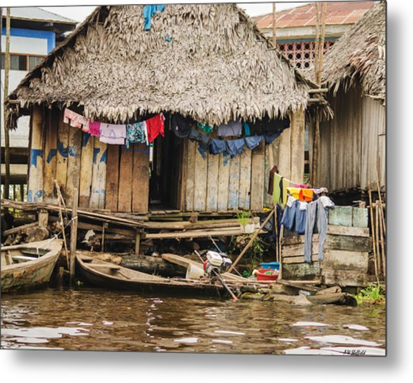 Home In Shanty Town Metal Print