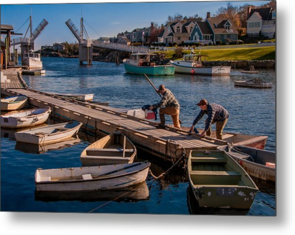 Home With The Catch Metal Print