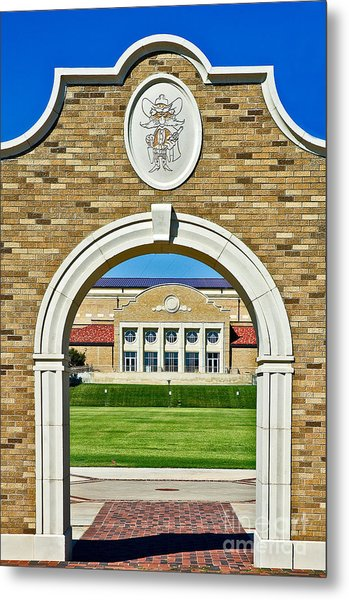 Metal Print featuring the photograph Homecoming Bonfire Arch by Mae Wertz