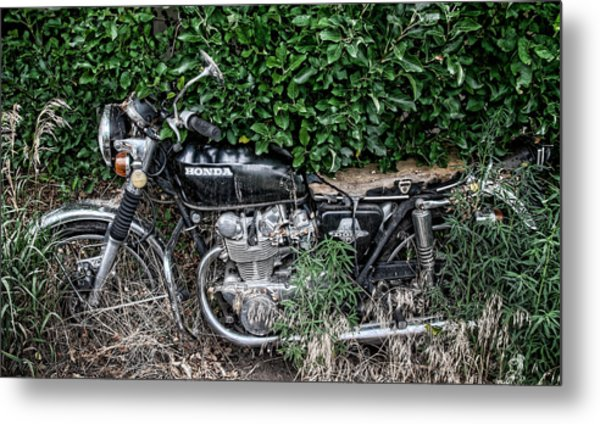 Honda 450 Motorcycle Metal Print