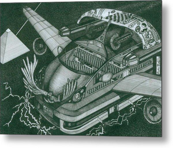 Honda Fit Metal Print