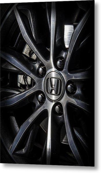 Honda Wheel Metal Print