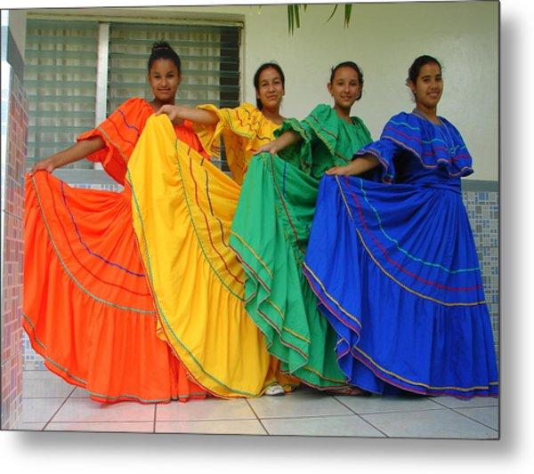 Honduran Dancers Metal Print