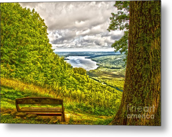 Honeoye Lake Overlook Metal Print