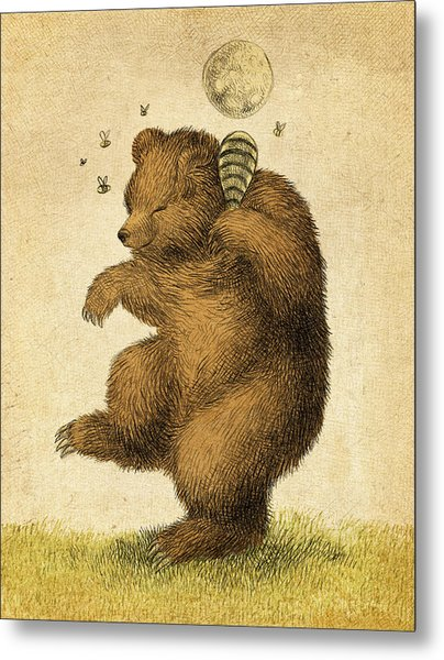Honey Bear Metal Print