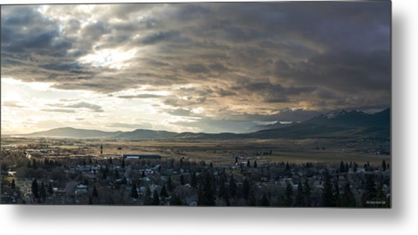 Honey Lake Valley Sunrise Metal Print