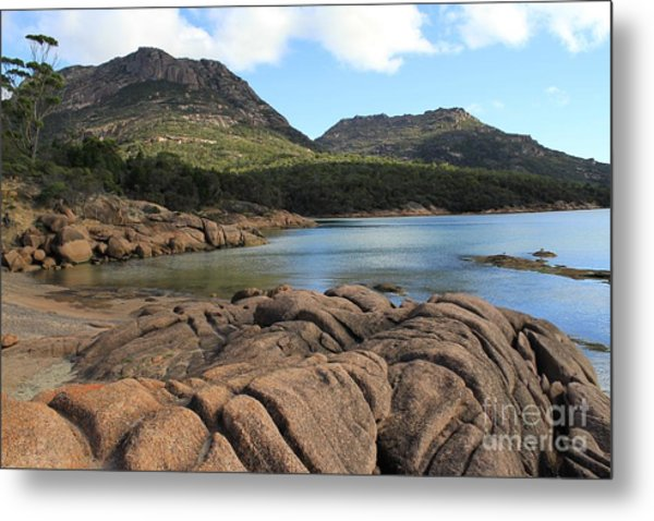 Honeymoon Bay Tasmania All Profits Go To Hospice Of The Calumet Area Metal Print